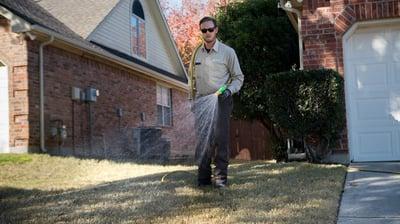 Shawn Kint Grassperson employee treating lawn