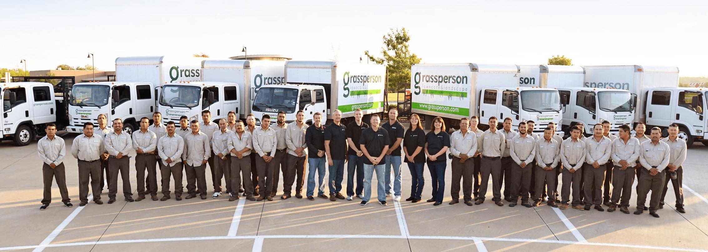 Grassperson Lawn Care team members