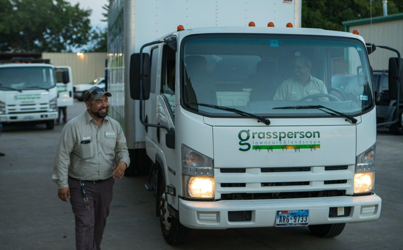 landscape maintenance crew drivers