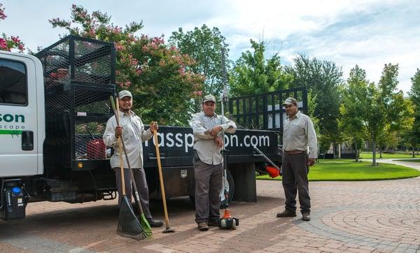 Grassperson landscaping crew