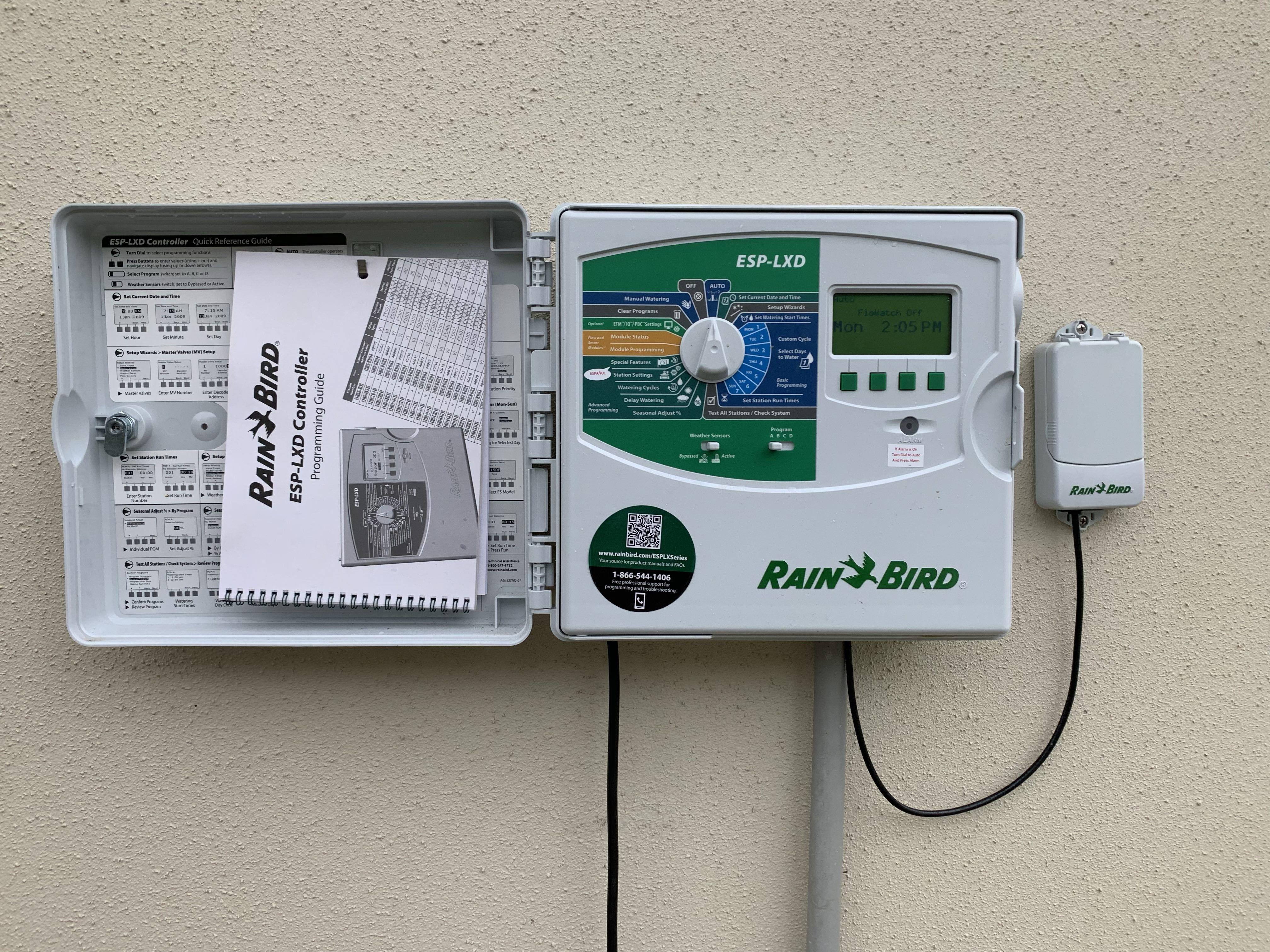 lawn sprinkler system irrigation controller